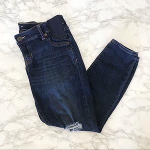GAP Maternity Side Panel Crop Skinny Jeans 28